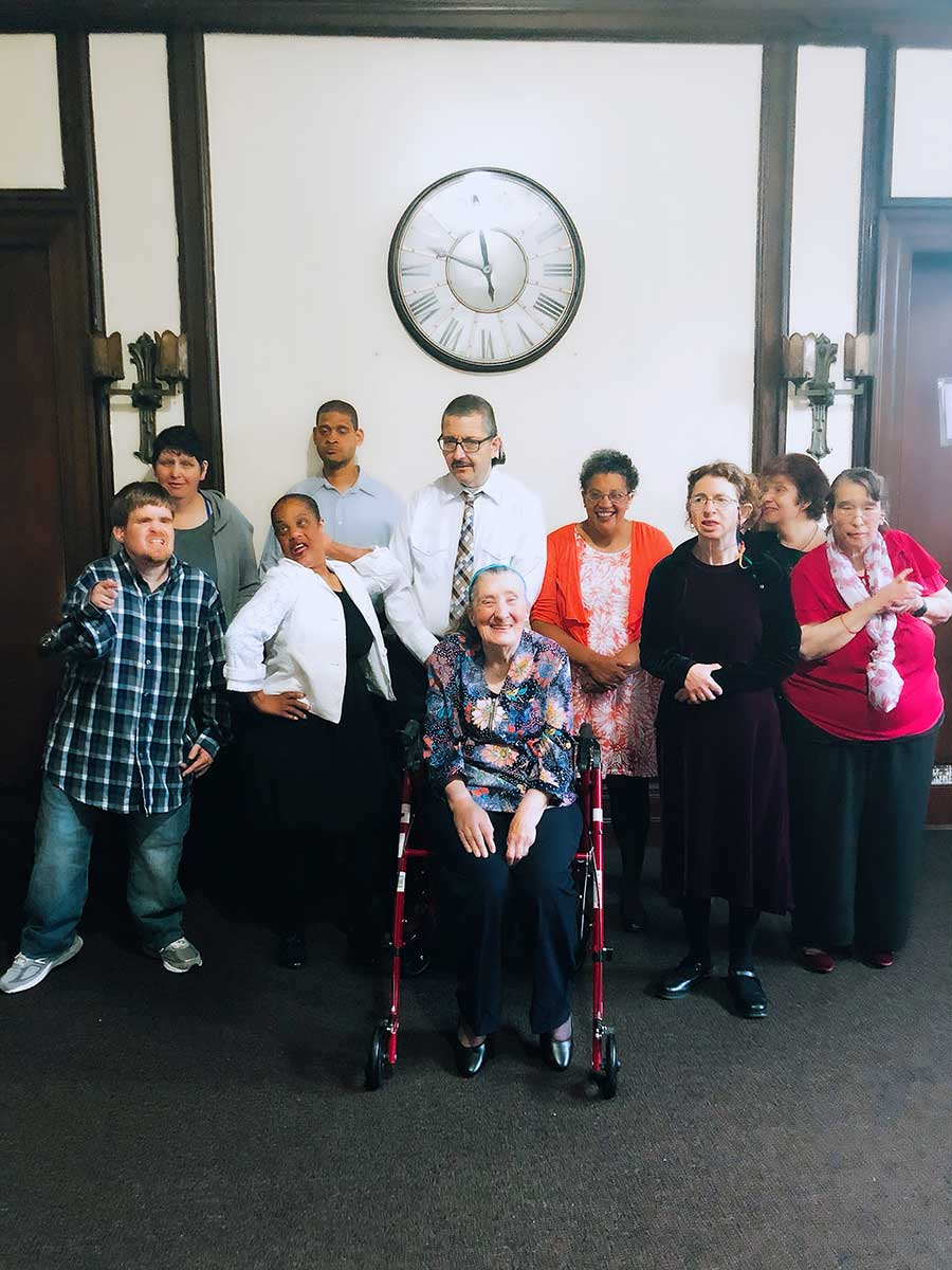 Clausen House residents enjoy social group activities.
