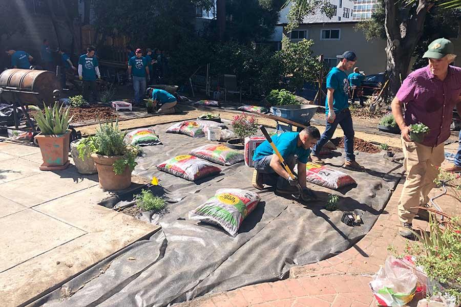 DPR Construction renovates the Vernon backyard at Clausen House